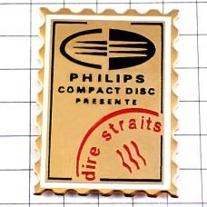 ピンバッジ・フィリップスのCD切手型ゴールド金色