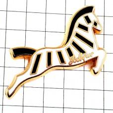 ピンバッジ・黒いシマウマ縞馬