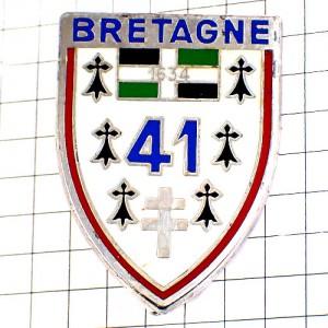 ブローチ・第41歩兵連隊ミリタリーフランス軍ブルターニュ地方アーミン紋章