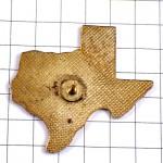 ピンバッジ・テキサス州旗ロータリークラブ歯車アメリカ地図型/USA星