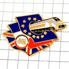 ピンバッジ・ユーロトンネル鉄道フランス英国イギリス国旗EU欧州連合ヨーロッパ星の旗