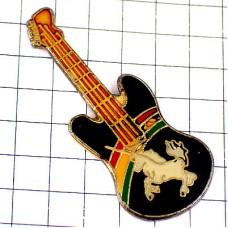 ピンズ・馬ユニコーン一角獣エレキギター楽器と虹
