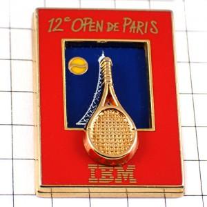 ピンバッジ・テニス選手IBM社パリオープン大会エッフェル塔