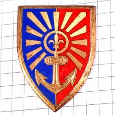 ブローチ・イカリと百合の紋章ミリタリー第8砲兵連隊フランス軍