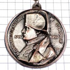 キーホルダー・ナポレオン横顔ポートレート肖像シルバー銀色