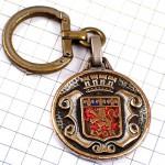 キーホルダー・リヨン真鍮色ライオンと百合の紋章