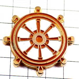 ピンバッジ・カジ舵ボート操舵