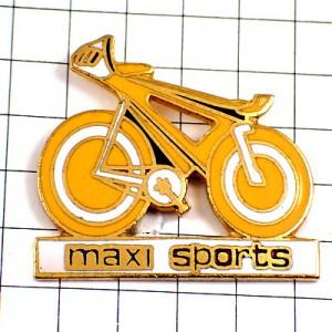 ピンバッジ・黄色い自転車マクシスポーツ店