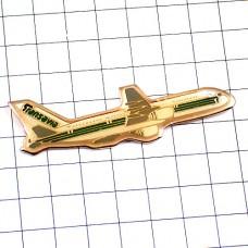 ピンバッジ・飛行機トランサヴィア航空オランダ旅客機しろい航空機