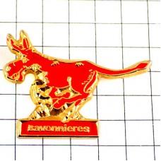ピンズ・赤いロバ驢馬