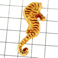 ピンズ・辰タツノオトシゴ龍竜ゴールド金色