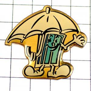 ピンバッジ・傘をさす窓くん