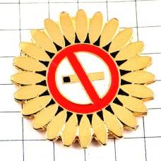 ピンズ・禁煙タバコ煙草ノースモーキング花