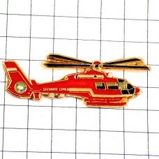 ピンズ・赤い救急ヘリコプター航空機