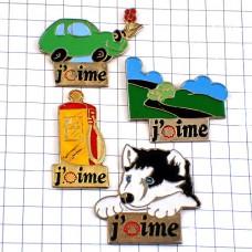 ピンズ・シェル石油シベリアンハスキー犬ドライブ給油機4個