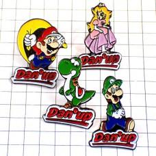 ピンズ・スーパーマリオブラザーズ任天堂マリオやルイージやヨッシーピーチ姫4個