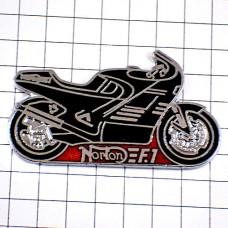 ピンズ・ノートン二輪バイク英国イギリス黒オートバイ車