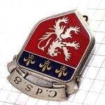 ブローチ・ライオンと百合の紋章ミリタリーフランス軍