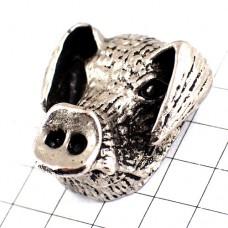 ピンズ・イノシシ猪ハンティング狩猟ピューター製