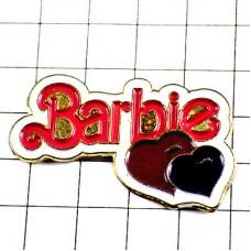 ピンバッジ・バービー人形大好きハート2つ