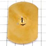 ピンバッジ・金色の牛ゴールド緑の流線形