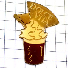 ピンバッジ・チョコレートのパフェお菓子ドルチェヴィータ甘い生活