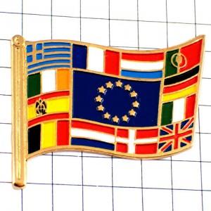 ピンバッジ・ユーロEU欧州連合の国旗ヨーロッパ星の欧州旗