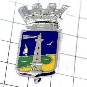 ブローチ・灯台カモメ帆船ヨット海の紋章