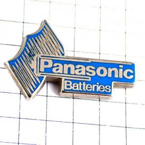 ピンバッジ・パナソニック電池ブルー青