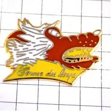 ピンバッジ・牙をむくオオカミ狼