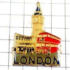 ピンバッジ・ロンドン塔ダブルデッカー2階建て赤いバス黒いタクシー車イギリス英国