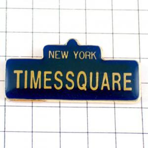 ピンバッジ・ニューヨークのタイムズスクエアNYアメリカ/USA米国