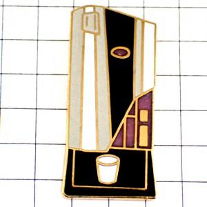 ピンバッジ・紙コップの珈琲コーヒーメーカー機