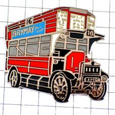 ピンバッジ・2階建てバス英国UKダブルデッカー赤い車イギリス観光