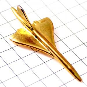 ピンズ・金色コンコルド音速飛行機ゴールド立体型