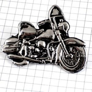 ピンズ・ハーレーダビッドソン二輪バイク銀色オートバイピューター製