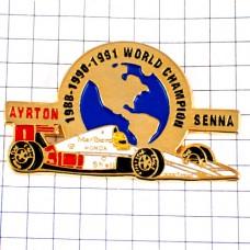 ピンズ・アイルトンセナ世界チャンピオン車ホンダF1マルボロマクラーレン地球