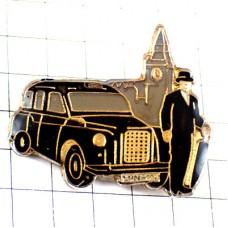 ピンバッジ・イギリスビッグベン時計塔ロンドン映画タクシー黒い車