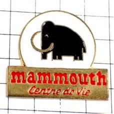 ピンバッジ・黒いマンモス象ゾウ印スーパーマーケット店