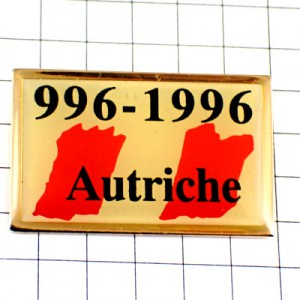 ピンバッジ・オーストリア国旗オートリッシュ建国1000年記念