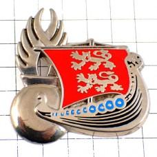 ピンバッジ・ライオンの紋章の帆船ノルマンディ地方ジャンダルムリ国家憲兵隊