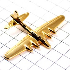 飛行機ゴールド金色お買得ピンバッジ312159