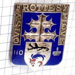 ブローチ・第110歩兵連隊フランス軍ライオンと魚の紋章ロレーヌ十字