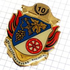 ブローチ・ラインガウ地方ドイツ車輪やブドウの房の紋章ワイン産地10葡萄酒