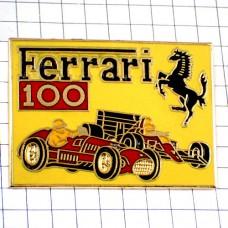 ピンバッジ・フェラーリ黒い馬のロゴ赤い車レース仕様