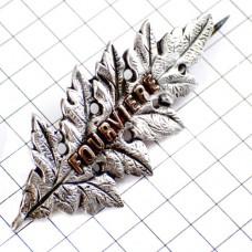 ブローチ・フルヴィエール銀色の葉リヨンの歴史地区