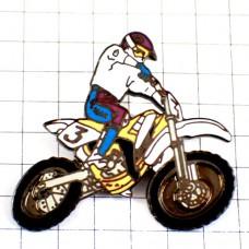 ピンバッジ・モトクロスバイク二輪レース仕様オートバイ3番