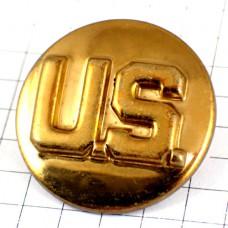 ピンバッジ・金色USアメリカ/USAゴールド米国