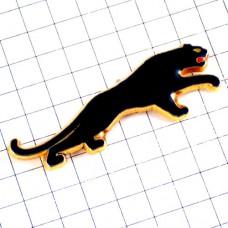 ピンバッジ・飛びかかるパンサー黒豹