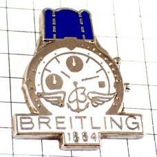 ピンバッジ・ブライトリング腕時計ブルー青いベルト